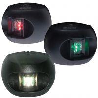 Serie 34 LED-Nav-Laternensatz schwarz (m.Heck)