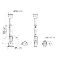 Aquasignal  S30 LED Signal-Laterne, klappbar