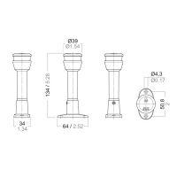 Aquasignal  S30 LED Signal-Laterne, Sockel