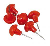 Heftnadeln mit rotem Kunststoff-Kopf (100 Stück)