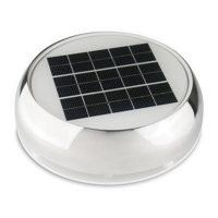 Marinco 4 Day/Night Solar Ventilator Weiss