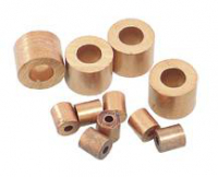 Stophülse Kupfer 3/32 2.5mm rund (gelb) 10St.