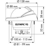 PLASTIMO KOMPASS OLYMPIC 95 WEISS KON. ROSE