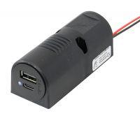USB Doppel-Aufbausteckdose C/A 12-24V mit LED