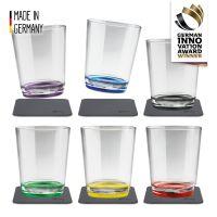 Magnet-Kunststoff Trinkbecher (6er-Set), Multicolour