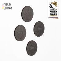 Metall-Nano-Gel-Pads 6,5 cm BLACK, 4er-Set