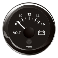 VDO VL Voltmeter 8-16V, schwarz